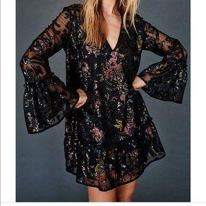 Falling flowers sequin dress (Free People)